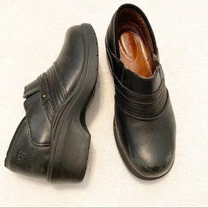 Ariat clog leather ASTM steel toe slip resistant